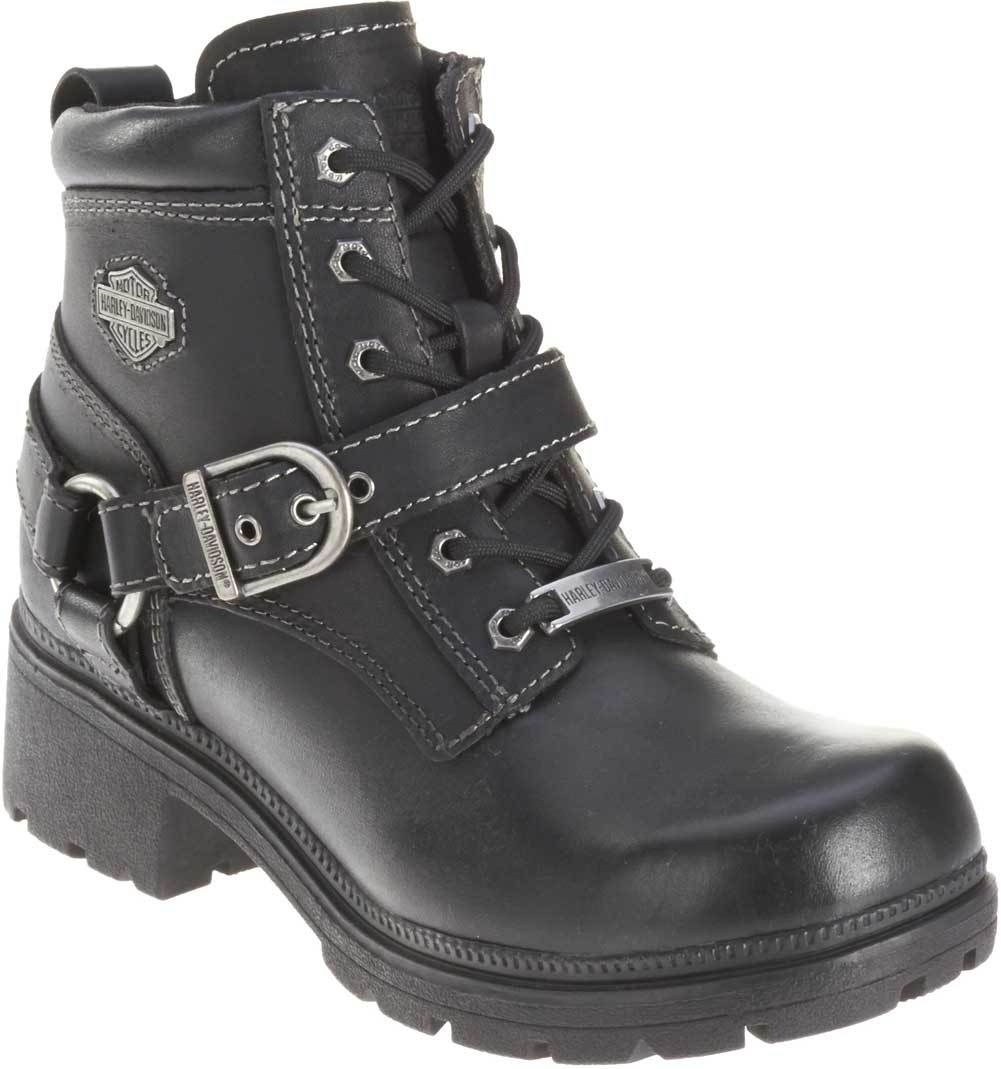 c3c2d68b82e Harley-Davidson® Women's Tegan 4-Inch Black Lace-Up Boots. D84424