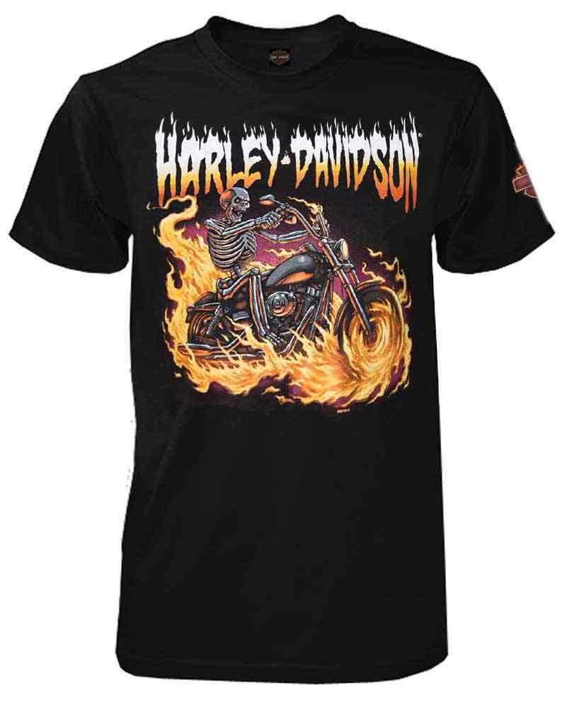 Harley-Davidson® Men's Tales From The Road Short Sleeve Crew T-Shirt, Black
